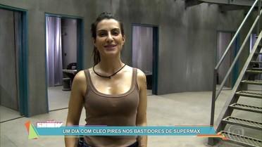 Cleo Pires mostra rotina de gravações em Supermax
