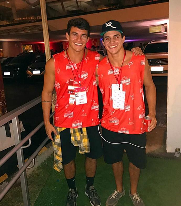 Antônio e Manoel curtem Carnaval juntos no Rio de Janeiro (Foto: Arquivo Pessoal)
