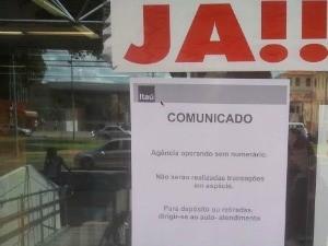 Greve dos vigilantes em Campo Grande (Foto: Fabiano Arruda/G1 MS)