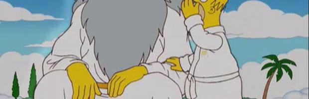 Deus em 'Os Simpsons'; o personagem tem cinco dedos, ao contrário dos demais (Foto: Divulgação)