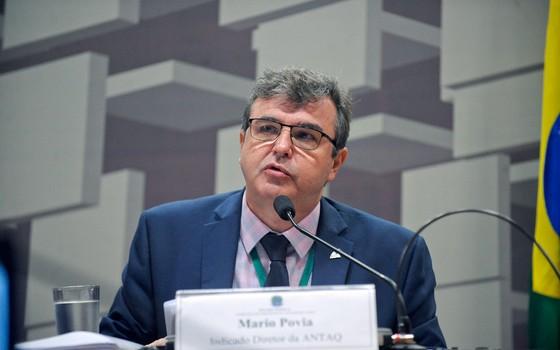 Mario Povia, diretor da Antaq (Foto: Pedro França/Agência Senado)