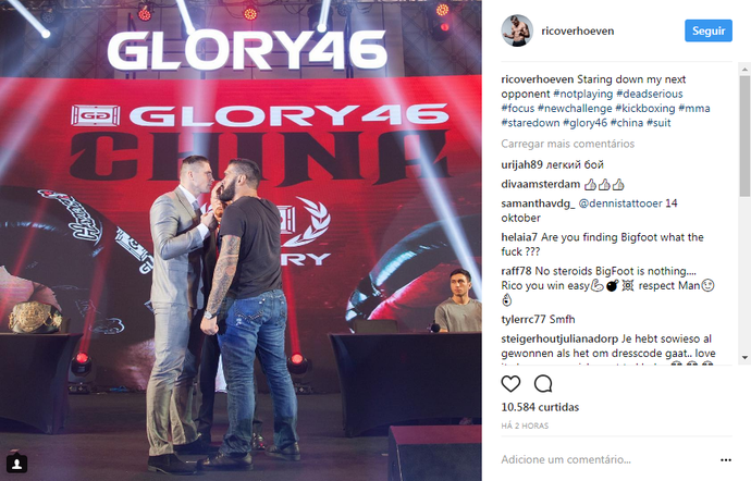 Antonio Pezão Rico Verhoeven Glory 46 (Foto: Reprodução/Instagram)