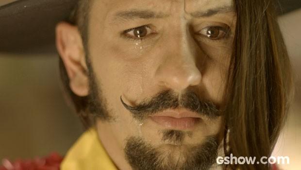 Zelão se emociona ao falar de Juliana (Foto: Meu Pedacinho de Chão/TV Globo)