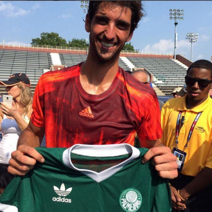 Thomaz Bellucci camisa palmeiras us open tênis (Foto: Reprodução/Instagram)