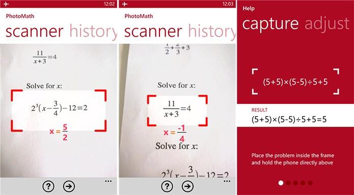 PhotoMaph é um app para Windows Phone capaz de resolver contas matemáticas (Foto: Divulgação/Windows Phone Store)