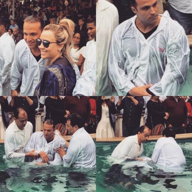 Ex-Bbb Fernando Mesquita é batizado no Rio (Foto: Divulgação)
