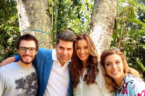 Hugo BOnemer, acau Higyno, Mônica Martelli e Julia Rabello (Foto: Marcela Ricca)
