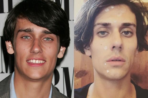 Teddy Geiger em maio de 2008 e em outubro de 2017 (Foto: Getty Images e Reprodução)
