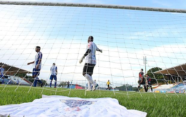 Goleiro conta com ajuda de Nossa Senhora de Aparecida (Foto: Anderson Silva/Globoesporte.com)