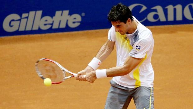 Thomaz Bellucci no tênis contra Filippo Volandri no Brasil Open (Foto: Gaspar Nóbrega  / Inovafoto)