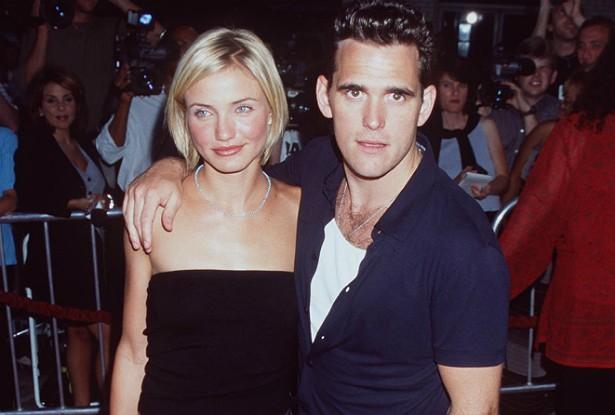 Cameron Diaz e Matt Dillon começaram a namorar em 1995 e terminaram em 1998, assim que terminaram de gravar a comédia romântica 'Quem Vai Ficar Com Mary?'. (Foto: Getty Images)