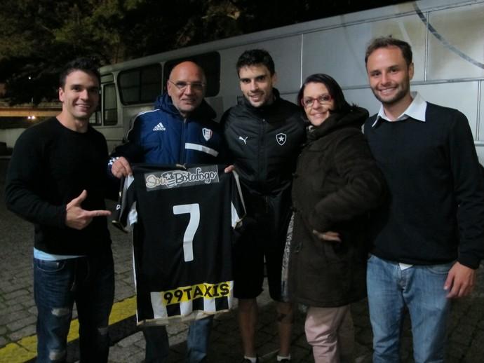 Rodrigo Pimpão Botafogo família (Foto: Gustavo Rotstein / GloboEsporte.com)
