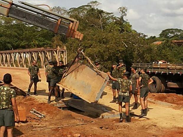 Homens do Exército chegaram na última terça-feira (28) a Pacajá. (Foto: André Kafona/ Arquivo Pessoal)