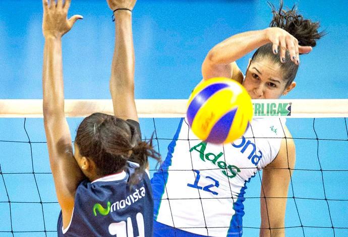 Natália, Rexona Ades X São Caetano, Superliga de Vôlei (Foto: Marcio Rodrigues/MPIX)