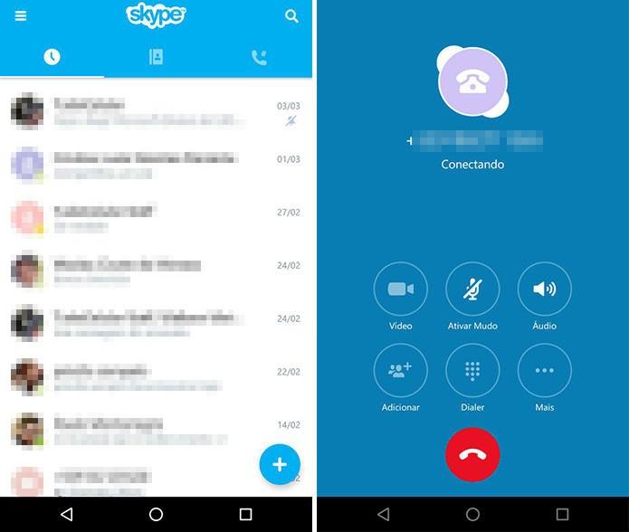 Skype para Android (Foto: Reprodução/Paulo Alves)