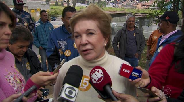 Veja como foi o último dia de campanha de Marta Suplicy, do PMDB, candidata a prefeita