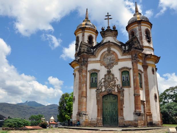 Igreja São Francisco de Assis, em Ouro Preto, arquitetada por Aleijadinho (Foto: Pedro Ângelo/G1)