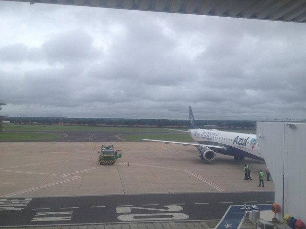 Aeroporto de Teresina ficou fechado durante meia hora (Foto: Gilcilene Araújo/G1)