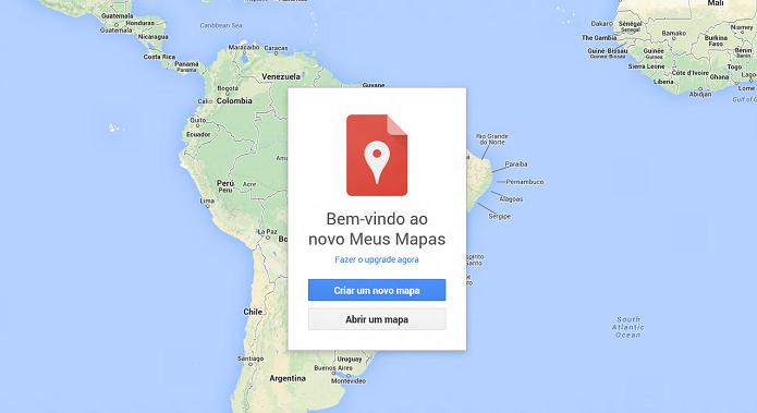 Crie novo mapa na tela inicial do MyMaps (Foto: Aline Jesus/Reprodução)