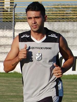 Márcio Paraíba participa de treino do Treze no Presidente Vargas (Foto: João Brandão Neto/GloboEsporte.com)