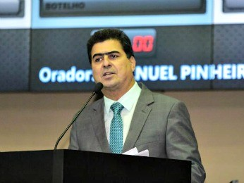 Deputado Emanuel Pinheiro (PMDB) é réu em ação de cobrança (Foto: Marcos Lopes/ AL-MT)