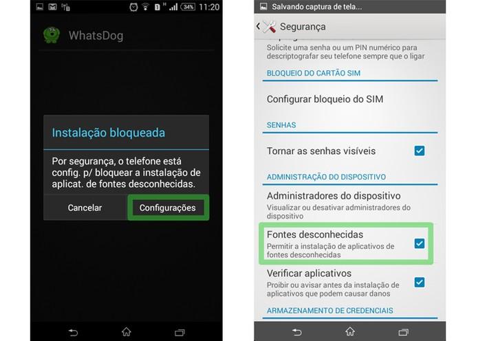 Libere a instalação de arquivos fora da Google Play (Foto: Reprodução/Luciana Vieira)