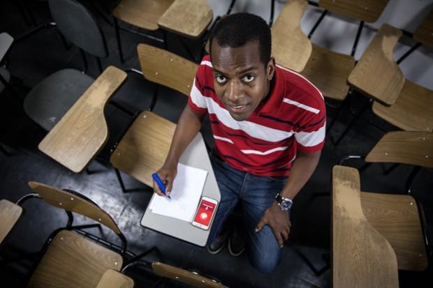 Cássio do Nascimento quer estudar gestão de políticas públicas na Universidade de São Paulo (USP) (Foto: Marcelo Brandt/G1)