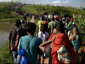 Mais famílias chegam para ocupar a Fazenda Cedro (Foto: Reprodução/TV Liberal)