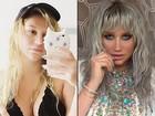 Kesha, de biquíni, aparece bem diferente em fotos sem maquiagem