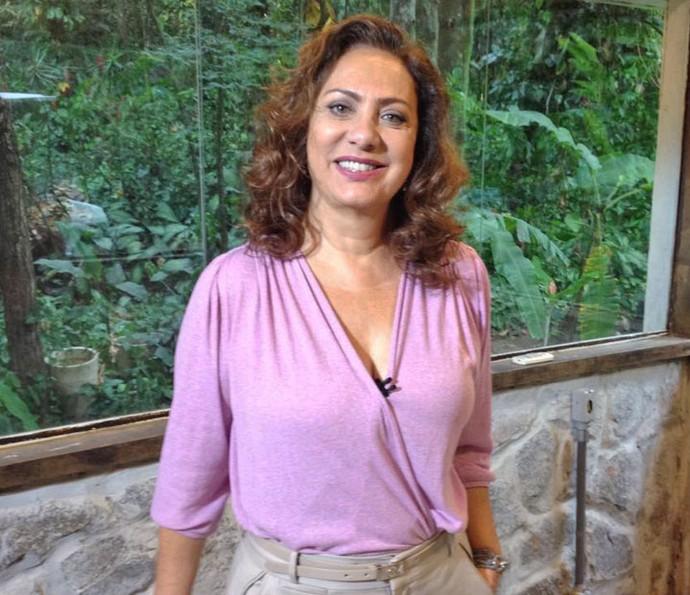 Eliane Giardini fala sobre a personagem Anastácia nos bastidores do Mais Você (Foto: Juliana Hippertt/Gshow)