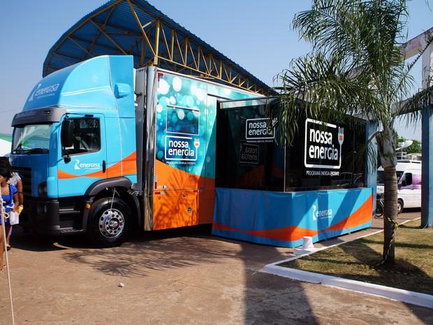 Caminhão do Nossa Energia vai às escolas (Foto: Assessoria/ Energisa Mato Grosso)