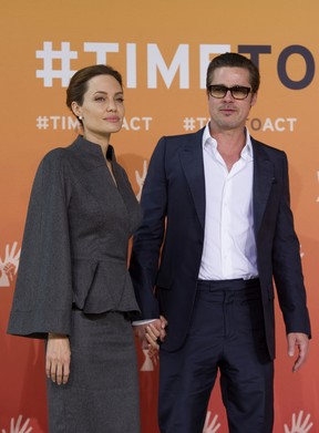 Angelina Jolie e Brad Pitt (Foto: Agência AFP)