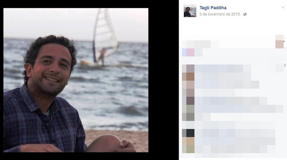 Tagliene Padilha foi encontrado morto em apartamento em Porto Alegre (Foto: Reprodução/Facebook)