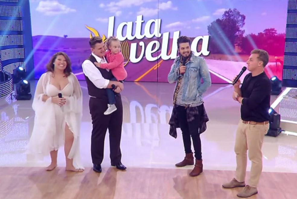 Luan Santana participa do 'Lata Velha' (Foto: TV Globo)