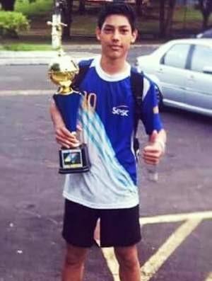Matheus Sato, estudante e atleta amador de handebol  (Foto: Reprodução/Facebook)