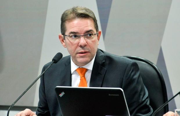 Desembargador Marcelo Navarro fala em sabatina na CCJ do Senado (Foto: Geraldo Magela/Agência Senado)