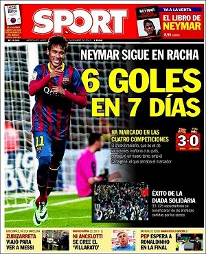 Neymar capa Sport (Foto: Reprodução)