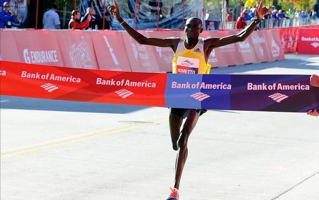 Dennis Kimetto chegada Maratona de Chicago (Foto: Getty Images)