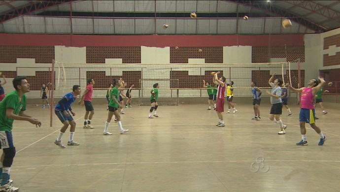 Treino da Seleção Rondoniense de Volei (Foto: Reprodução/TV Rondônia)