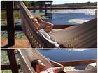 Momento relax: Carla Perez e Xanddy descansam em rede
