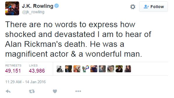 J.K. Rowling (Foto: Reprodução/ Twitter)