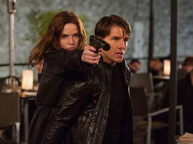 Tom Cruise e Rebecca Ferguson em cena de 'Missão: Impossível – Nação secreta' (Foto: Divulgação)