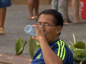 Calor em Juiz de Fora (Foto: TV Integração/Divulgação)