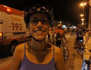 Maíra Dias, organizadora da bicicletada em João pessoa (Foto: Larissa Keren)