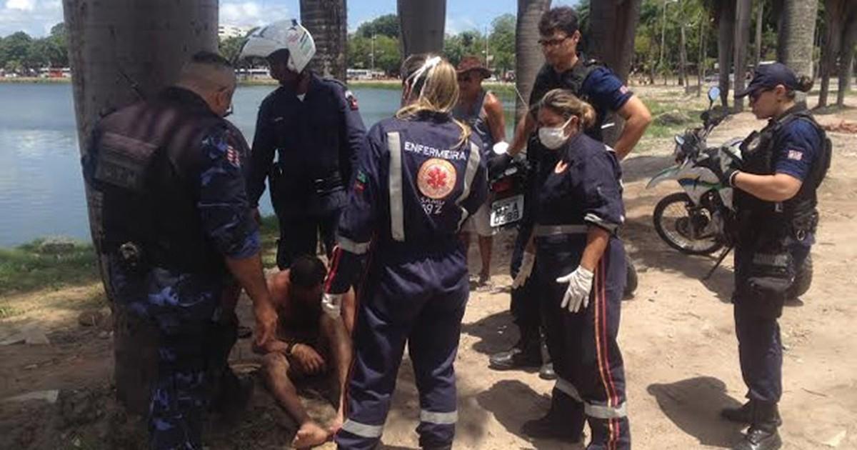 Homem é salvo quando se afogava na Lagoa de João Pessoa - Globo.com