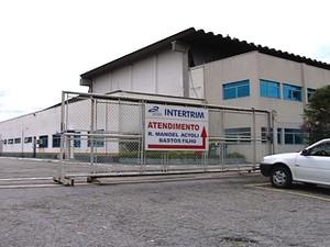 Sede da empresa Intertrim, em Caçapava (Foto: Reprodução/TV Vanguarda)