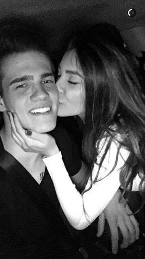 Breno e Bruna Santana (Foto: Reprodução/Snapchat)