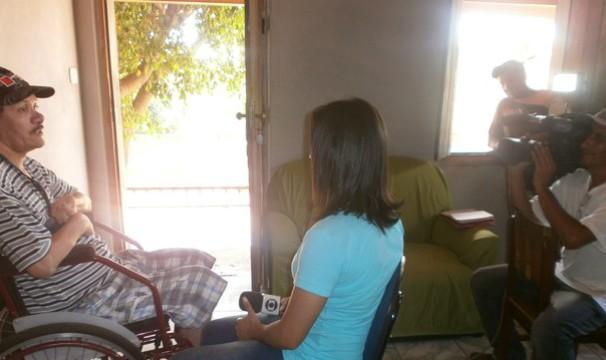 (Foto: Repórter Ana Carolina Ferreira conversou com vítimas da BR-367 (Foto: Marina Pereira))