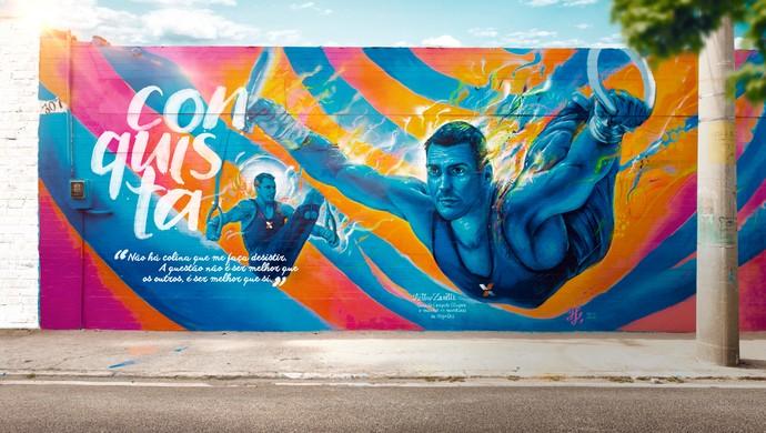 Arthur Zanetti ginástica artística grafite rio 2016 (Foto: Divulgação)