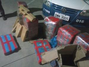 Polícia encontra 250 quilos de maconha em caminhão (Foto: Divulgação/ Guarda Municipal de Salto)
